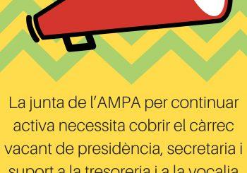 IMPORTANT!! CÀRRECS VACANTS A LA JUNTA DE L'AMPA