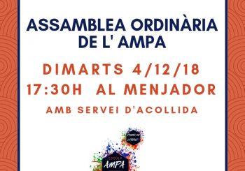 4/12: ASSAMBLEA ORDINÀRIA DE L'AMPA